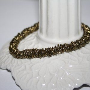 Beautiful bronze ring bracelet 7""